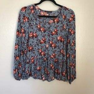 American Eagle Outfitters | Blue Boho Top